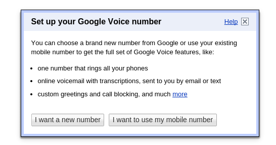 set up voice number